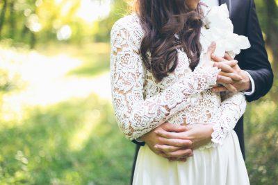 Nygift brudepar.
