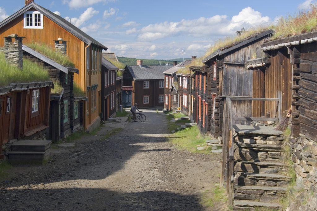 Historiske bygninger i Røros.