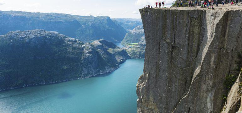 Preikestolen i Norge.