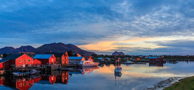 Vakker sjøutsikt Norge