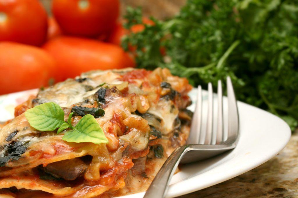 Vegetarlasagne er en sikker vinner og perfekt for en uke med vegetarmat